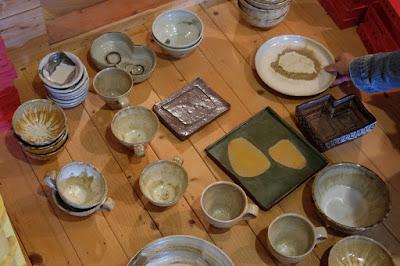 長野県生坂村の陶芸・器 白日窯 器、お皿、ケーキ皿