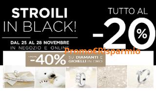 Logo Stroili in Black con il - 20% e fino al 40% su gioielli in oro e diamanti
