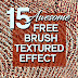 15 Awesome Textured Effect Brush Photoshop