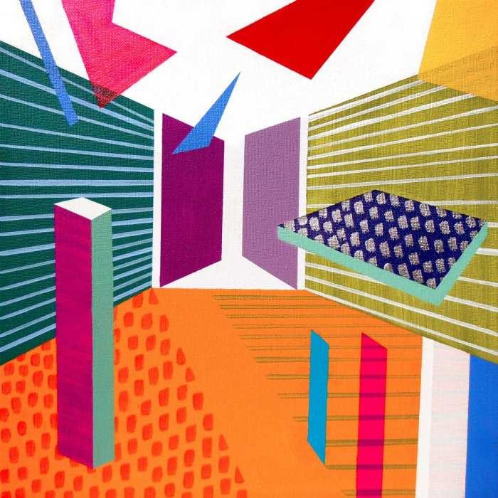 Геометрические абстрактные картины. Lucie Jirku