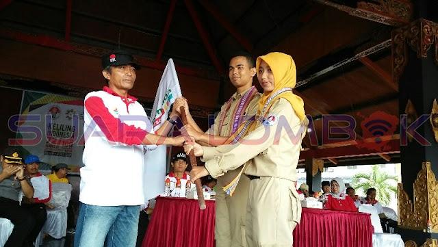 Loteng Sambut Kirab Pemuda Indonesia Dengan Meriah