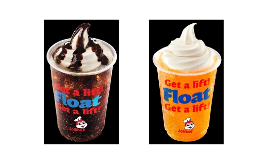 Jollibee's Coke and Royal Floats