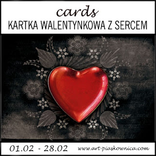 CARDS - kartka walentynkowa z sercem
