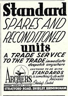 Archers 1954 Standard advert