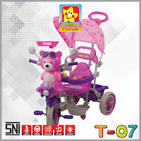 pmb t07 beruang sepeda roda tiga anak