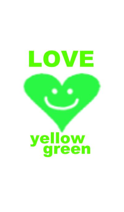 LOVE yellow green