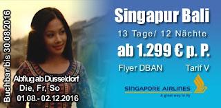 Flugspecial Singapur Bali
