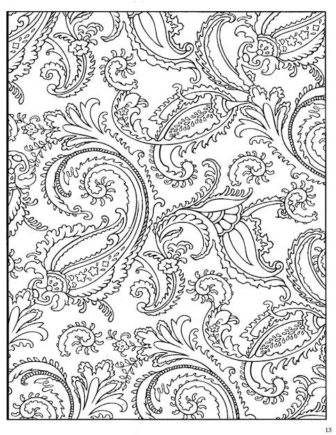 Paisley Designs Coloring Book  Bing Images