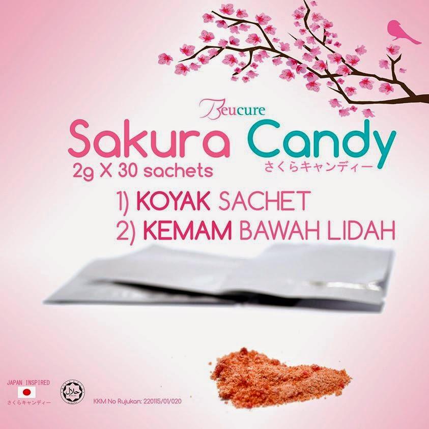 Cara makan Beucure Sakura Candy, Sakura candy, sihat, memutihkan kulit, cantikkan kulit