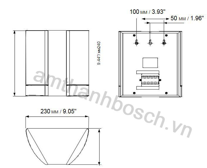 Ghi chú lắp đặt/cấu hình loa thùng hai hướng