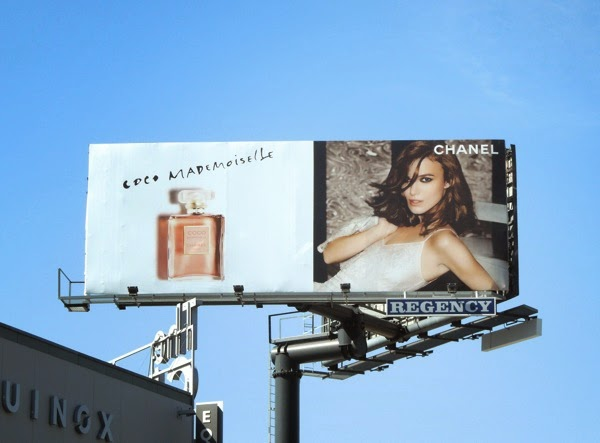 Keira Knightley Chanel Coco Mademoiselle fragrance billboard
