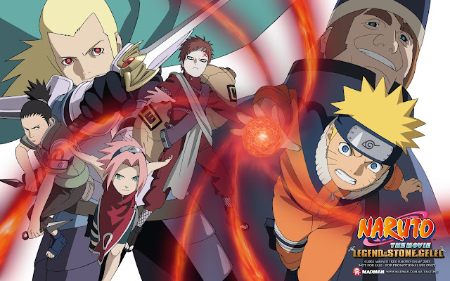 Download Anime Naruto the Movie 2: Legend of the Stone of Gelel