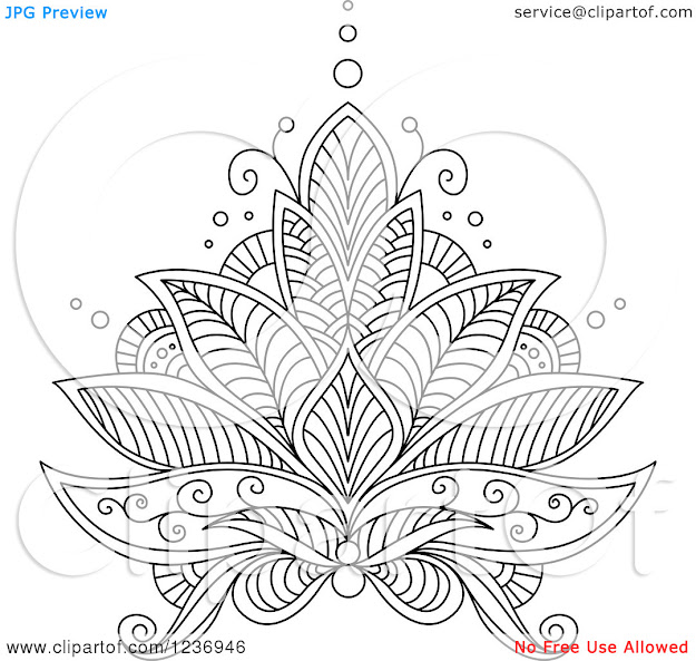 Flowers And Paisley Coloring Pages