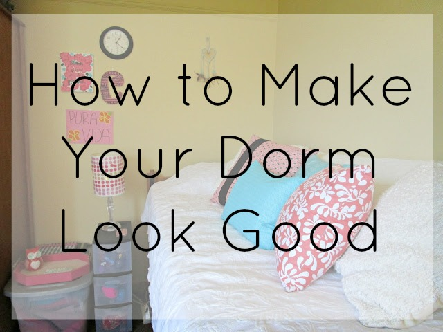 How to Make Your Dorm Look Good | Tips on how to decorate your dorm room from Courtney's Little Things
