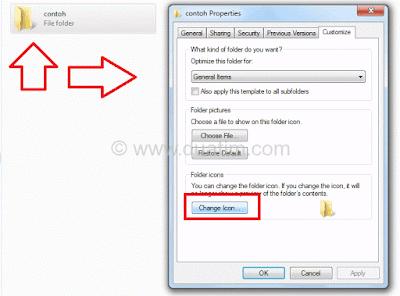 Cara mengganti icon folder komputer tanpa software 3