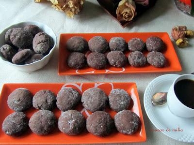 Galletas de castañas con  chocolate