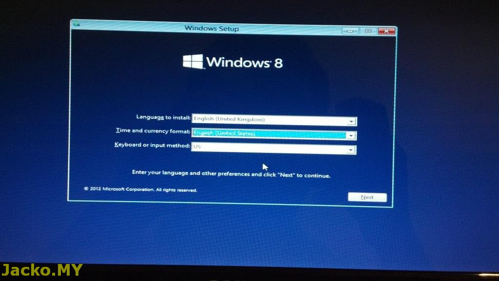 Jacko MY: Windows 8 Upgrade (Advanced User)