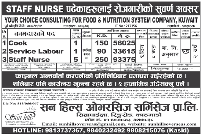 Jobs in Kuwait for Nepali, Salary Rs 93,375