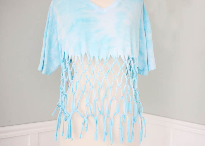 DIY Macrame T Shirt (no sew!)