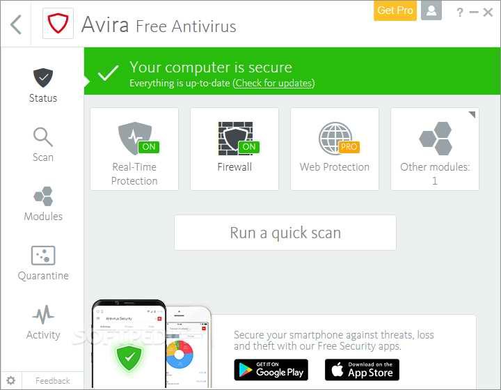 Avira Free Antivirus 15.0 Mei 2019 Free Download