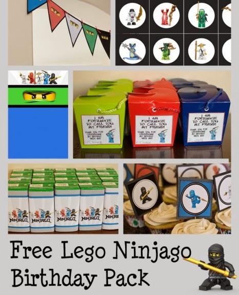 Kit de Ninjago para Imprimir Gratis.