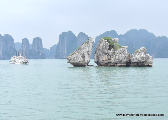 Halong Bay Kissing Rock