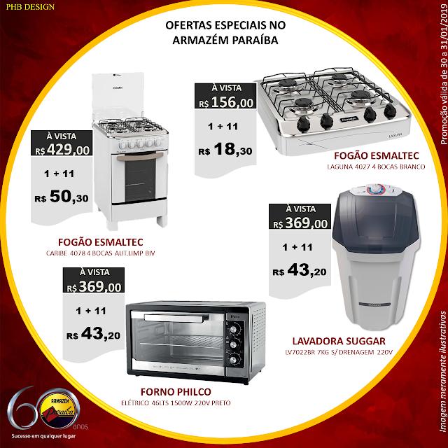 Aproveite as ofertas especiais no Armazém Paraíba. Hoje (31) é o último dia. 6cb83307bb4