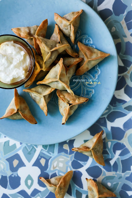 spinach pastry triangles