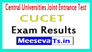 Central Universities Joint Entrance Test CUCET Exam Result 2017