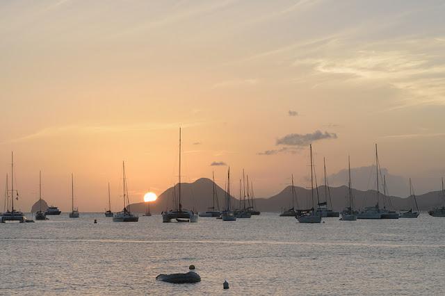 Coucher de soleil sur la baie de Sainte-Anne