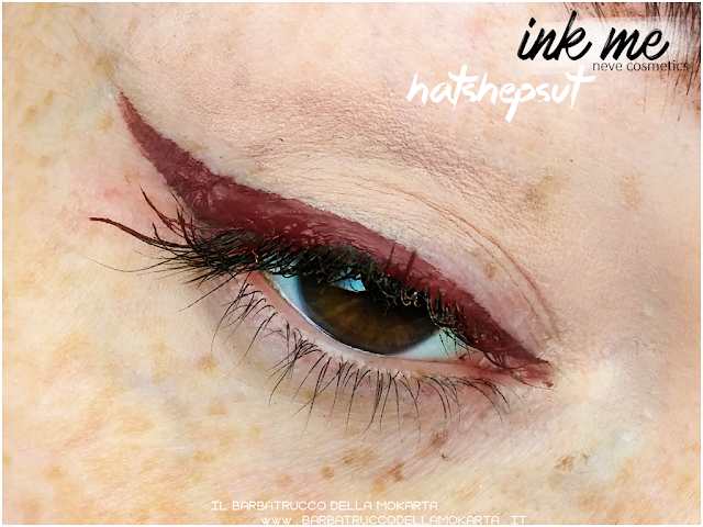 HATSHEPSUT  APPLICAZIONE INKME EYELINER NEVE COSMETICS REVIEW RECENSIONE