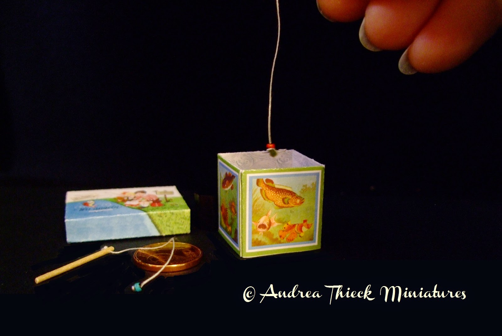 Andrea thieck miniatures fish pond game angelspiel for Koi pond game
