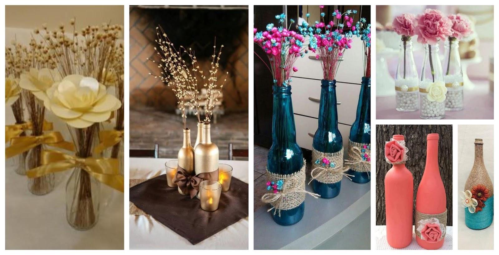 Convierte botellas de vidrio en lindos adornos para tu