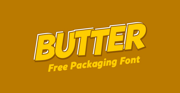 Free Bold Font for Packaging