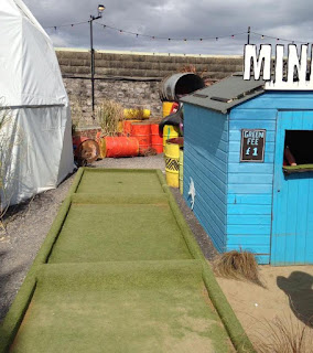 Crazy Mini Golf at Banksy's Dismaland Bemusement Park in Weston-super-Mare. Photo by Matt Dodd