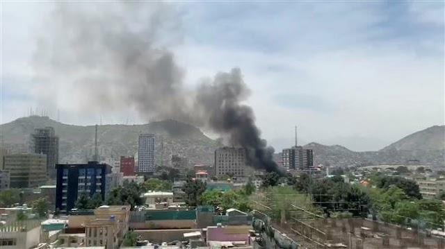 Huge explosion, gunfire hit Afghan capital, Kabul