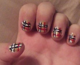 Fashion Edition:  Burberry Nails