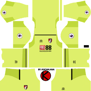 A.F.C. Bournemouth Kits 2017/2018 - Dream League Soccer