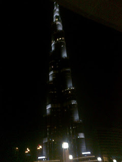 burj khalifa night view