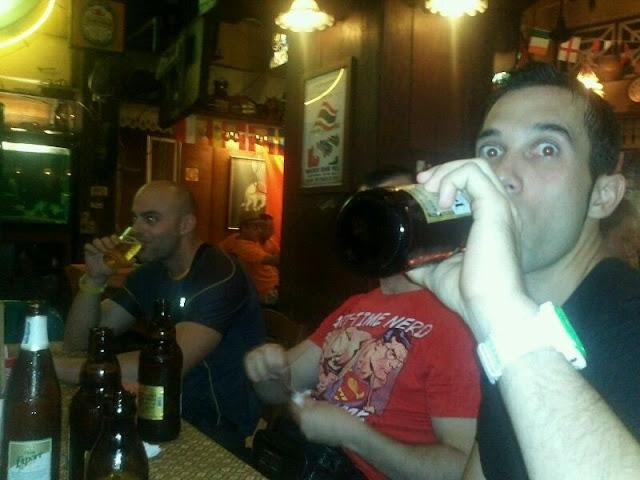 De cervezas en Bangkok