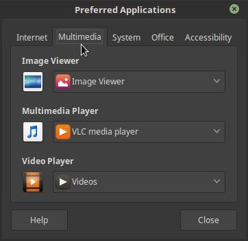 Mensetting Default Aplikasi di Linux Mint