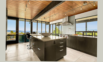 Mid Century Modern Kitchen Remodel Black Table Good View Fresh With Pattern in the Outdoor Nice Pic