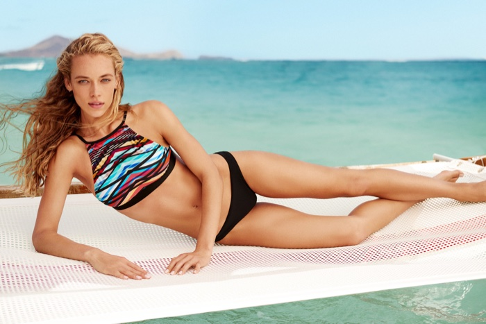 Hannah Ferguson is a Beach Bombshell for KikiRio Swimwear