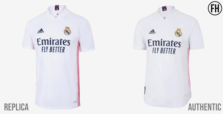 montón Oscurecer Arqueólogo  Adidas Real Madrid 20-21 Authentic vs Replica Kits - One-of-a-Kind  Differences - Footy Headlines