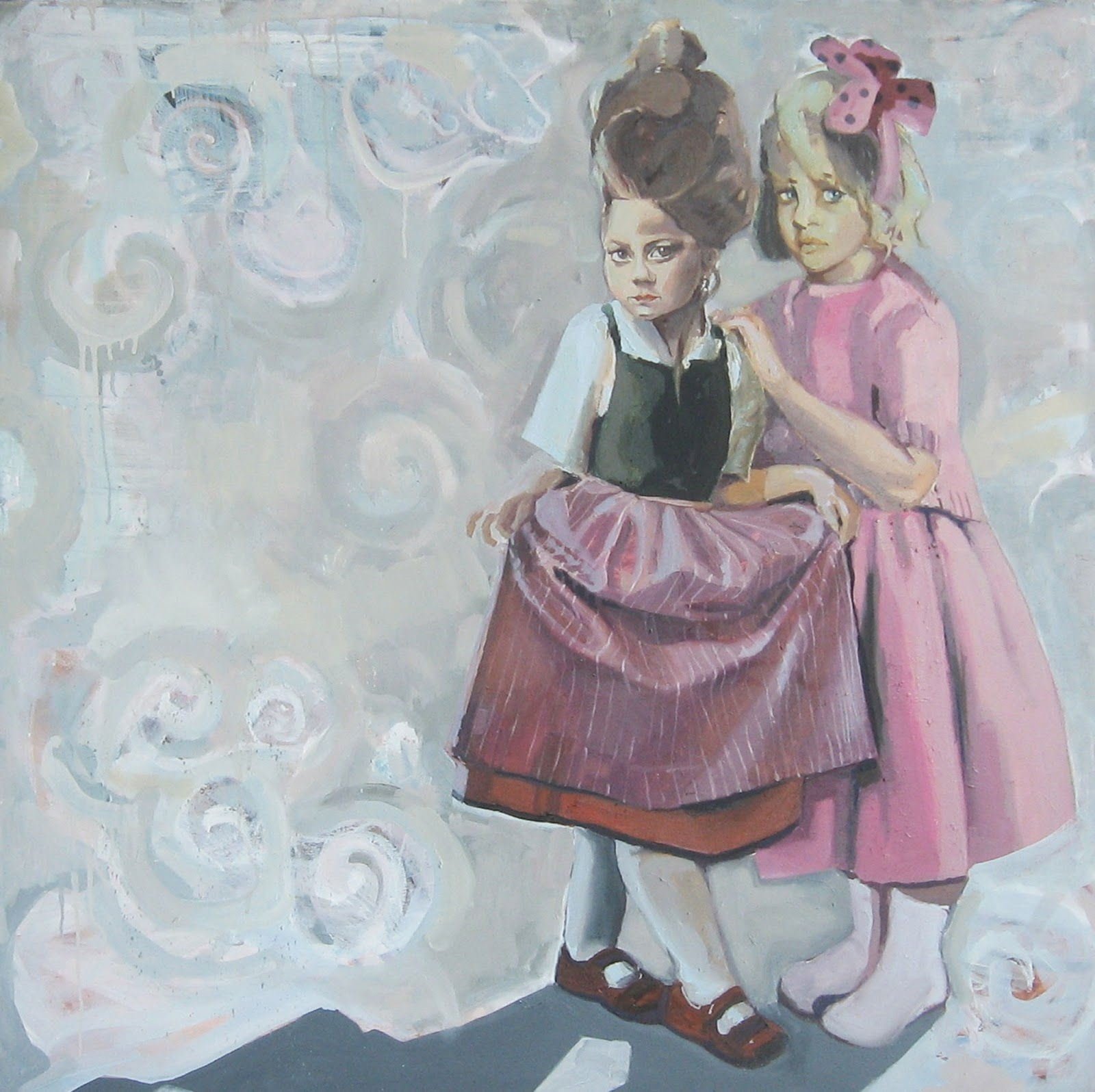 malarstwo ludzie tematyka społeczna dzieci dziewczynki małe aukcja sztuki młodych Warszawa polswiss Urbaniak