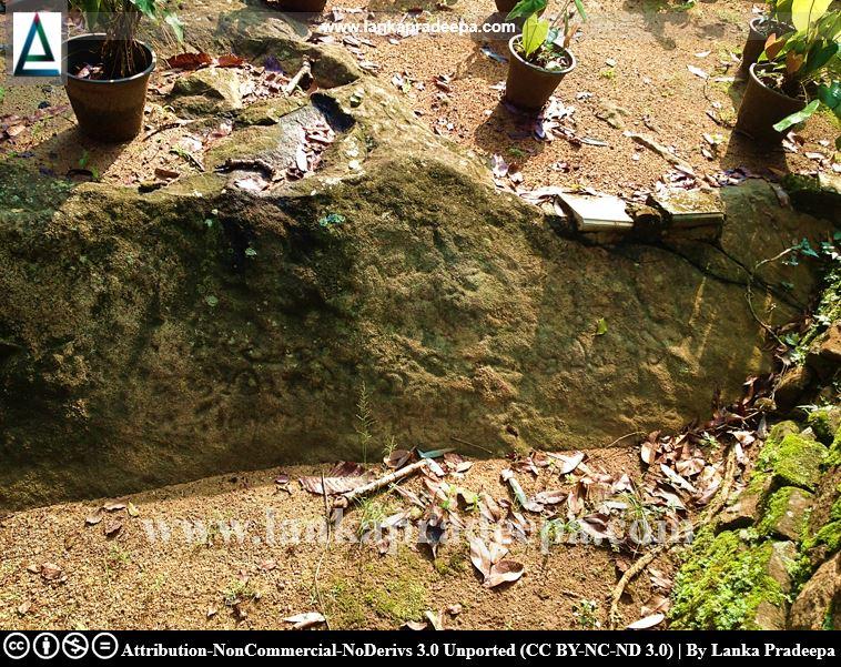 A rock inscription at Hindagala temple