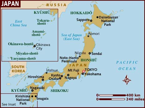 Life At The Bay Fun Facts Japan - Japan map facts