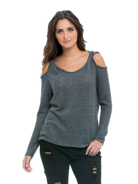 Off-Shoulder Top in Gray this Summer 2017