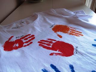 Regalo per maestra: Maglietta con impronte