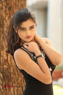 Actress Poojitha Pallavi Naidu Stills in Black Short Dress at Inkenti Nuvve Cheppu Movie Platinum Disc Function  0146.JPG